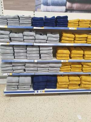 Towels reduced at Tesco (Oldham) - Large £3 / Medium £1.80 / Small £1.20