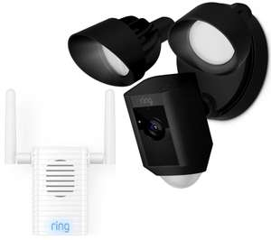 Ring Floodlight Camera AND Chime Pro Wi-Fi Extender and Indoor Door Chime £229 @ Currys PC World
