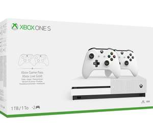 Xbox one s 1tb with 2 wireless controllers £20 Topcashback at Currys