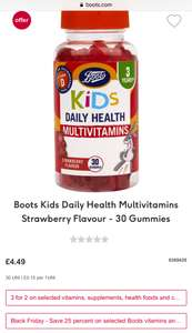 3 for 2 on selected vitamins, supplements and health foods and complement - cheapest free @ Boots