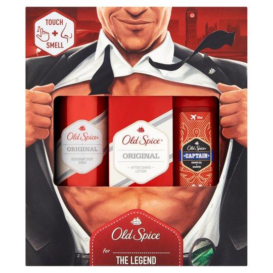 Old Spice Original Gift Set For Men 3pc-Deo Spray, Aftershave Lotion, Shower Gel £5 @ tesco