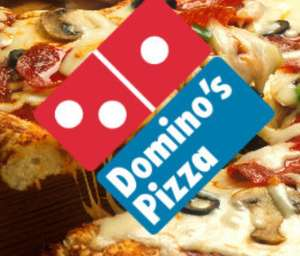 50% off dominos using code when you buy more than one full priced pizza online