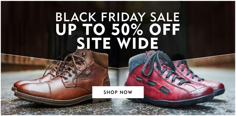 Rieker offer stack + 50% off sale