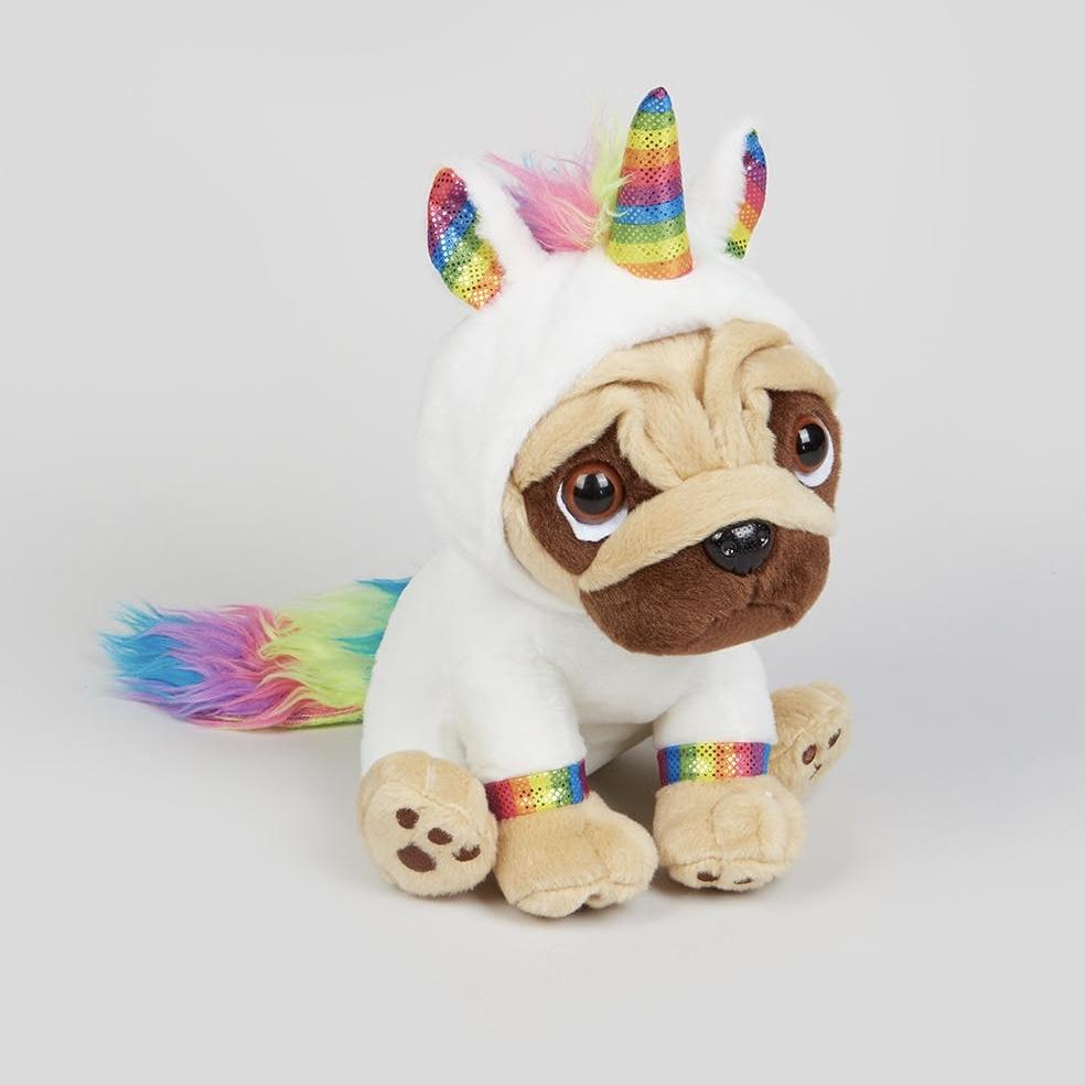 Rainbow Unicorn Pugsley Soft Toy (20cm) £5 @ Matalan (free Click & Collect)