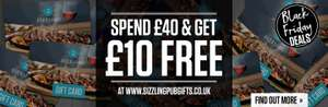 Buy £40 gift card get extra £10 at Sizzling pubs