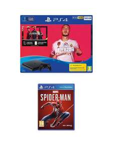 PS4 500GB FIFA 20 Bundle With MarvelsSpider-Man And Optional Extras at Very for £199.99