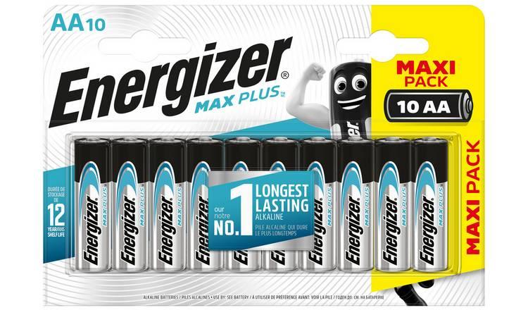 Energizer Max Plus AA Batteries £4.50 @ ASDA