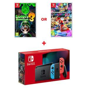 Nintendo Switch Neon Console (Improved Battery) & Select Game £299.99 @ Smyths