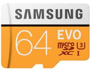 Samsung EVO 64GB Micro SDHC UHS-I Class 10 Memory Card 100MB/s with SD Adaptor for £8.99 Delivered @ Base