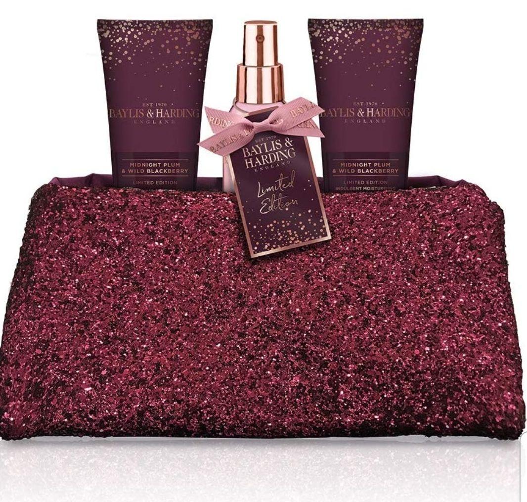 Baylis & Harding Midnight Plum & Wild Blackberry Luxury Sequin Clutch Bag £6.79 @ Amazon (+£4.49 Non-prime)