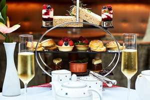 Afternoon Tea with Bottomless Bubbles for Two in London £44.25 @ BuyAGift