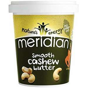 Meridian smooth Cashew butter 454g £1.49 in-store @ Homebargains
