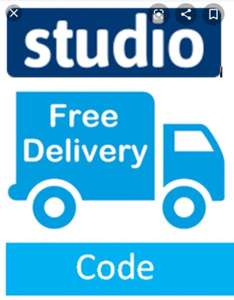 Fee shipping code for Studio. New accounts only.