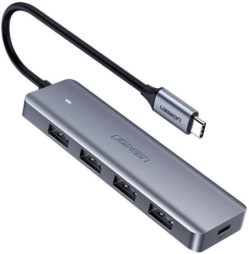 UGREEN USB C Hub 4 port,Ultra Slim USB C OTG Splitter Portable Extension 5Gbps Data Hub for £8.99 Prime/+£4.49-Sold by UGREEN Grp. LTD & FBA