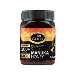 Pure Gold Premium Select Manuka Honey MGO 300 500g £31.87 @ Holland and Barrett (With Discount Code) online / Instore