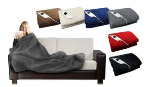 Electric heated cosy blanket @ Groupon - £27 + £1.99 Postage (Possible Cashback)