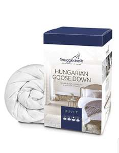 Snuggledown Hungarian Goose Down Duvet, All Seasons 13.5 Tog (4.5+9.0), Double + 2 pillows @ Amazon, £164.58
