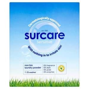 Surcare 25 washes 1.62 kg of powder reduced to £1.49 Instore @ Aldi (Coventry)