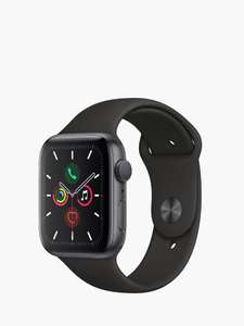 Apple Watch Series 5 GPS, 44mm Space Grey Aluminium Case with Black Sport Band £409 @ John Lewis 0% Interest Free Credit Available