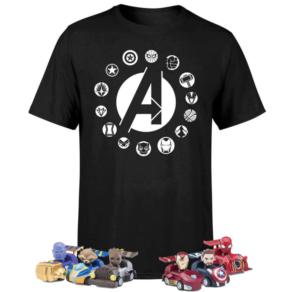 Marvel Avengers Beast Kingdom T-shirt & Pen With Pull Back Car Set Bundle - £10.99 – Zavvi European Exclusive
