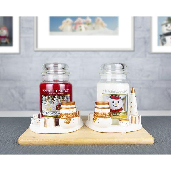 2 x Official Yankee Candle Jackson Frost Snowman Festive Season Jar Holders Decoration Ornament Accessories £12 @ Yankee Bundles