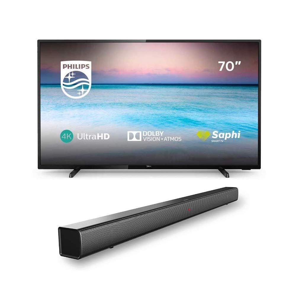 Philips 70PUS6504/12 70-Inch 4K TV with Philips HTL1508/12 Bluetooth Soundbar £699 @ Amazon