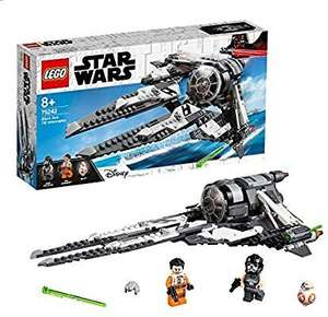 LEGO 75242 Star Wars Black Ace Tie Interceptor Starfighter Set Includes mini BB-8 and Poe Dameron Minifigures £28.99 @ Amazon