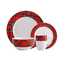 16 Piece Porcelain Tartan Dinner Set Or 12 Piece Porcelain Cross Stitch Hearts Dinner Set £16 @ Asda (Free Click & Collect)