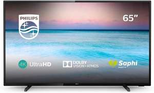 Philips 65PUS6504/12 65-Inch 4K UHD Smart TV with HDR 10+, Dolby Vision, Dolby Atmos, Smart TV - Black at Amazon £499