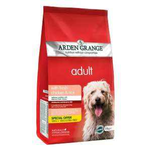 14kg Arden Grange Chicken and Rice at Amazon for £24.99