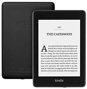 "Kindle Paperwhite | Waterproof, 6"" High-Resolution Display, 8GB—without special offers—Black at Amazon £94.99"
