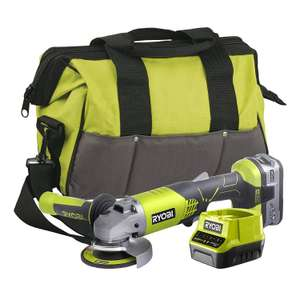 Ryobi R18AG-140S 18V ONE+ Cordless Angle Grinder Starter Kit (1 x 4.0Ah) £89.99 at Amazon
