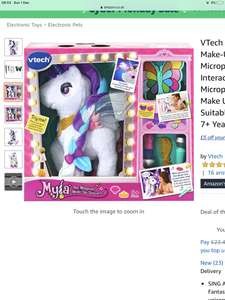 VTech Myla The Magical Make-Up Unicorn Toy with Microphone for Kids and Unicorn Make Up Brush & Palette | £23.40 @ Amazon