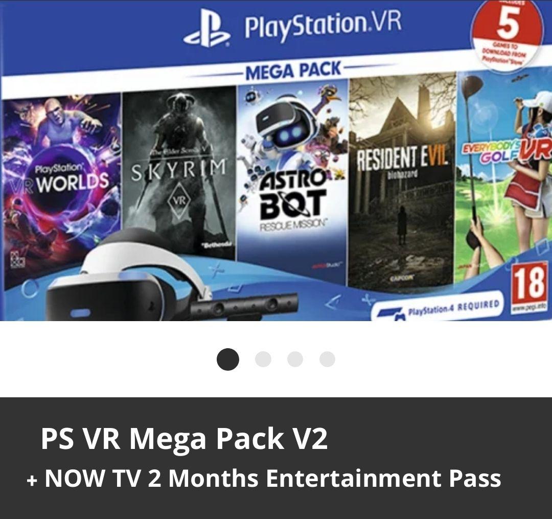 PSVR Mega Pack V2 + 5 Games + NOW TV £209 at GAME