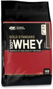4.54kg Optimum Nutrition Gold Standard Whey Protein Powder Muscle Building Supplements for £46.79 at Amazon