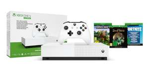 Xbox One S All-Digital Edition with minecraft, sea of thieves, fortnight bundle £84.38 at Microsoft Germany