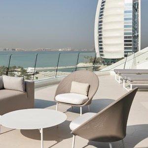 Jumeirah Beach Hotel, Dubai, One bedroom suite, HB for 2 persons - £394 per night via Travel Republic