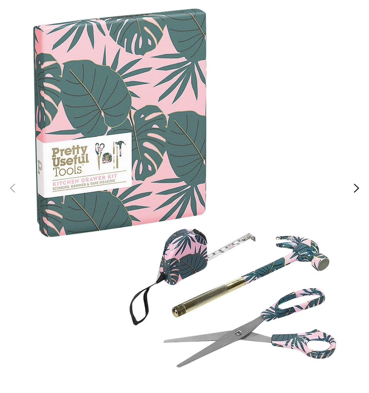 Pretty Useful Tools Kitchen Drawer Kit, Pink Paradise £7.50 @ John Lewis & Partners