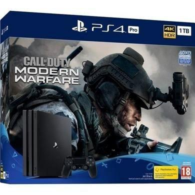 Sony Playstation 4 Pro 1TB Call of Duty Modern Warfare bundle + 1x extra Dual Shock 4 Wireless Controller £299.97 @ Laptops Direct