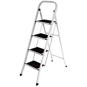 Home Discount® 4 Step Ladder, Heavy Duty Steel, Folding, Portable with Anti-Slip Mat £19.99 Prime / £24.48 Non Prime at Amazon