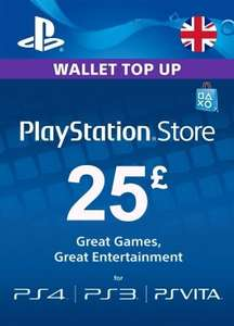 PlayStation Network Wallet Top Up £25 for £20.58 at Instant Gaming