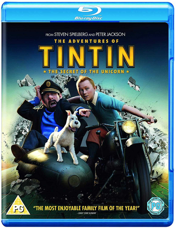 The Adventures of Tintin: The Secret Of The Unicorn Blu Ray £2.49 (+ £2.99 Non Prime) Amazon