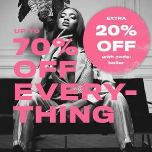 Up to 70% Off Sale + Extra 20% Off with code @ Missguided