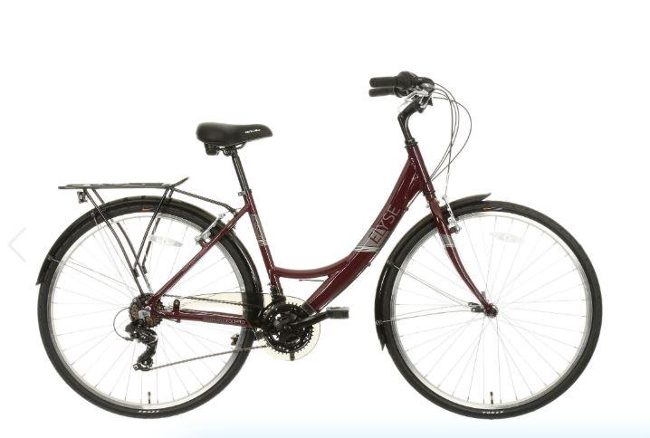 "Apollo Elyse Womens Hybrid Bike - Purple - 16"", 18"" Frames £160 at Halfords"