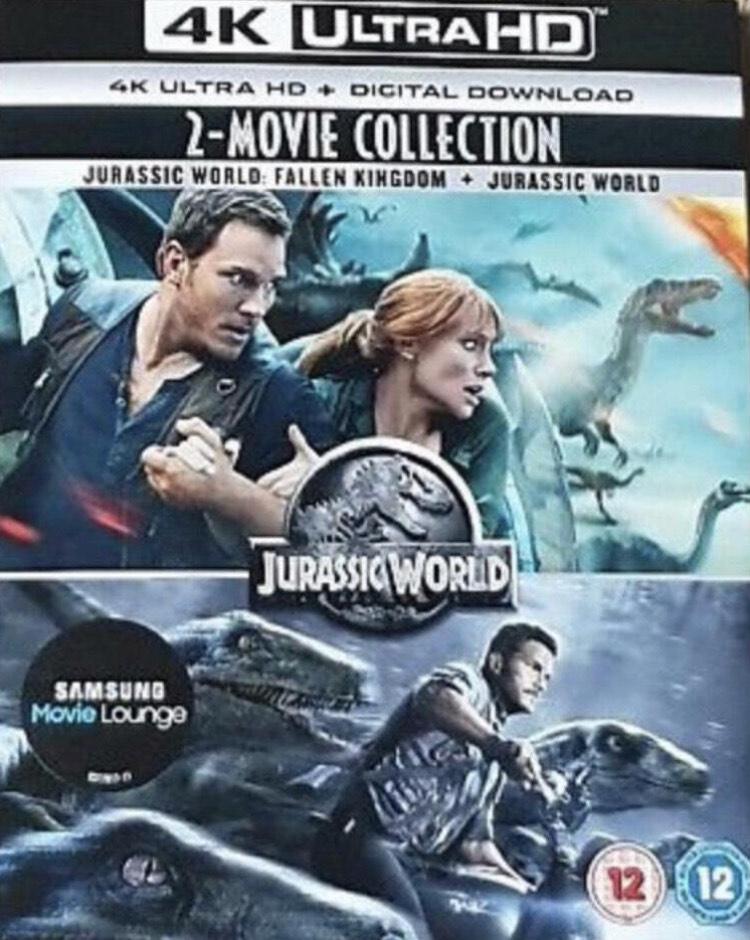 Jurassic World: Fallen Kingdom + Jurassic World (4K Ultra HD + Digital Download) [New & Sealed] - £7.50 Delivered @ Youberdeals91/eBay
