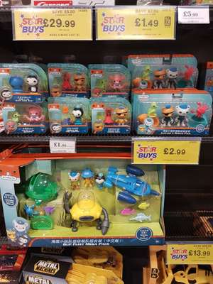 Octonauts Toys from £1.99 at Home Bargains South Shields