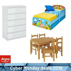 25% Off £100+ Spends On Selected Indoor Furniture - EG: Disney Toy Story Toddler Bed with Drawers & Mattress £141.94 Delivered @ Argos