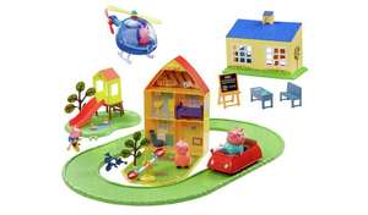 Peppa Pig World of Peppa Bumper Playset + figures, £40 using code @ Argos