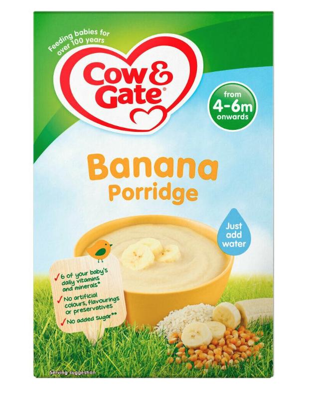 Cow&gate multigrain Banana porridge only 38p in Tesco Spring Hill Birmingham