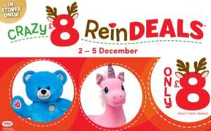 £8 crazy reindeals in store at Build a Bear from 2nd to 5th of Dec